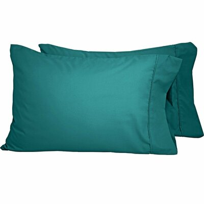 Premium Ultra-Soft Microfiber Solid Pillow Case Color: Emerald, Size: Standard