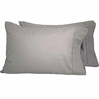 Premium Ultra-Soft Microfiber Solid Pillow Case Color: Light Gray, Size: King