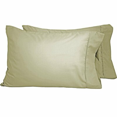 Premium Ultra-Soft Microfiber Solid Pillow Case Color: Sage, Size: Standard