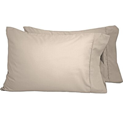 Shiflet Luxury Premium Ultra-Soft Pillow Case Size: Standard, Color: Sand