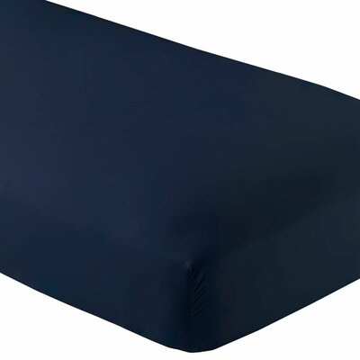 Premium Wrinkle Resistant Ultra Soft 5 Piece Fitted Sheet Set Size: Twin, Color: Dark Blue