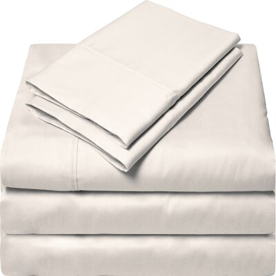 300 Thread Count Egyptian Quality Cotton Sheet Set Color: Ivory, Size: Split King