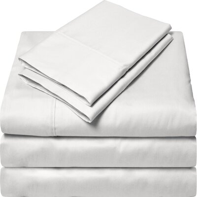 300 Thread Count Egyptian Quality Cotton Sheet Set Color: Cream White, Size: Split King