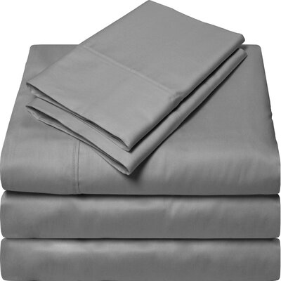300 Thread Count Egyptian Quality Cotton Sheet Set Color: Gray, Size: Split King