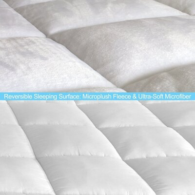 Premium Reversible Microplush Down Alternative Mattress Pad Size: Twin