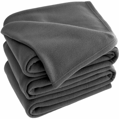 Polar Fleece Blanket Color: Gray, Size: King