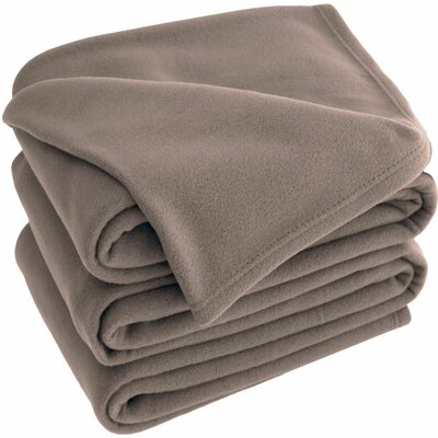 Polar Fleece Blanket Size: Queen, Color: Taupe