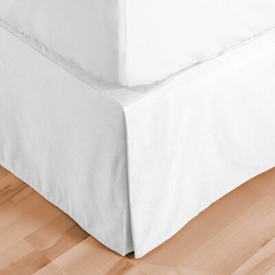 Premium Microfiber Tailored Drop Pleated 1800 Thread Count Bed Skirt Size: King, Color: White