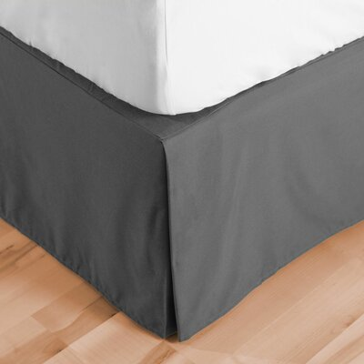 Premium Microfiber Tailored Drop Pleated 1800 Thread Count Bed Skirt Size: King, Color: Gray