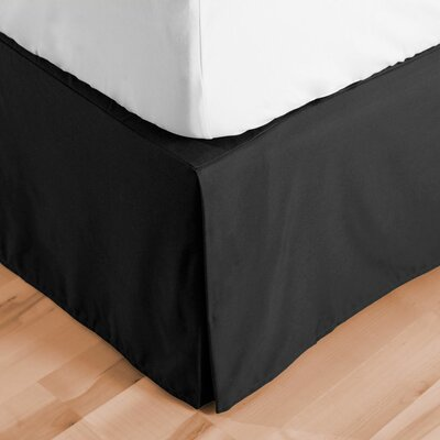 Premium Microfiber Tailored Drop Pleated 1800 Thread Count Bed Skirt Size: Twin XL, Color: Black
