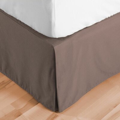 Premium Microfiber Tailored Drop Pleated 1800 Thread Count Bed Skirt Size: Queen, Color: Taupe