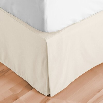 Premium Microfiber Tailored Drop Pleated 1800 Thread Count Bed Skirt Size: Queen, Color: Ivory