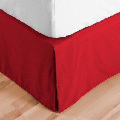 Premium Microfiber Tailored Drop Pleated 1800 Thread Count Bed Skirt Size: Queen, Color: Red