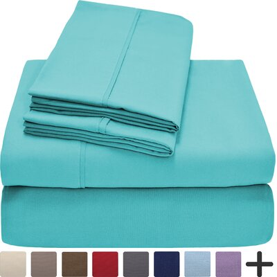Hadley Premium Ultra Soft 5 Piece Sheet Set Color: Turquoise, Size: Twin