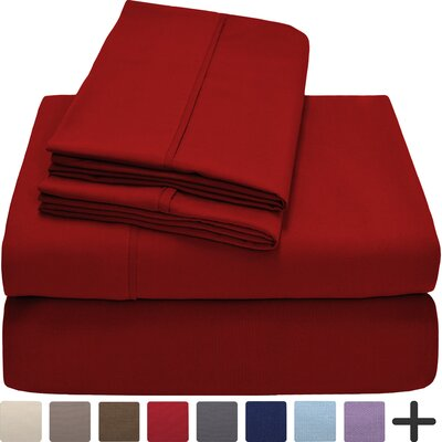 Hadley Premium Ultra Soft 5 Piece Sheet Set Color: Red, Size: Twin