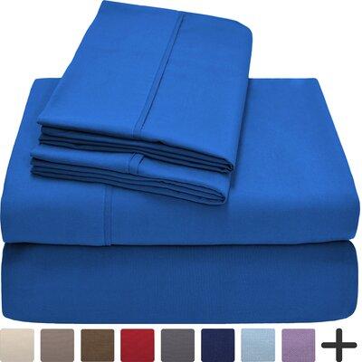 Andes Premium Microfiber Sheet Set Color: Medium Blue