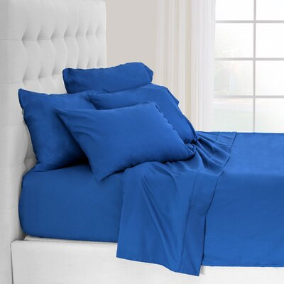 Hadley Premium Ultra Soft 5 Piece Sheet Set Color: Plaid Blue, Size: Twin XL