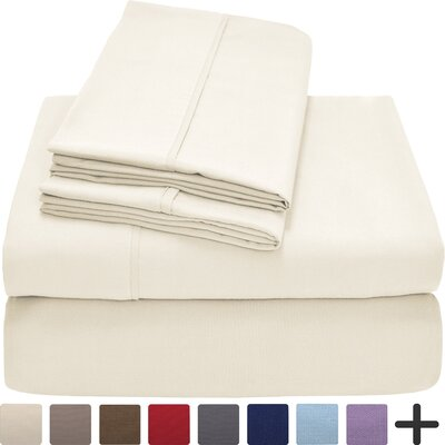 Hadley Premium Ultra Soft 5 Piece Sheet Set Color: Ivory, Size: Twin XL