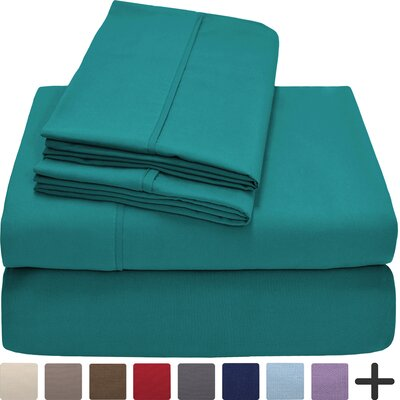 Hadley Premium Ultra Soft 5 Piece Sheet Set Color: Emerald, Size: Twin XL