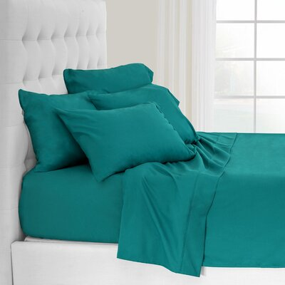 Andes Split King Premium Microfiber Sheet Set Color: Emerald