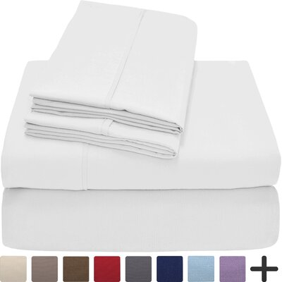 Andes Premium Microfiber Sheet Set Color: White
