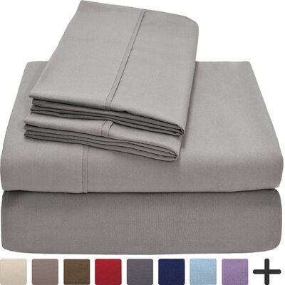 Hadley Premium Ultra Soft 5 Piece Sheet Set Color: Light Gray, Size: Twin XL