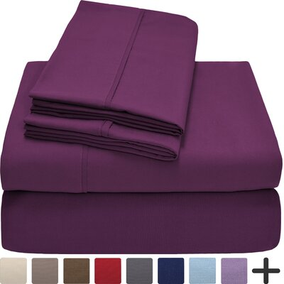 Andes Premium Microfiber Sheet Set Color: Plum