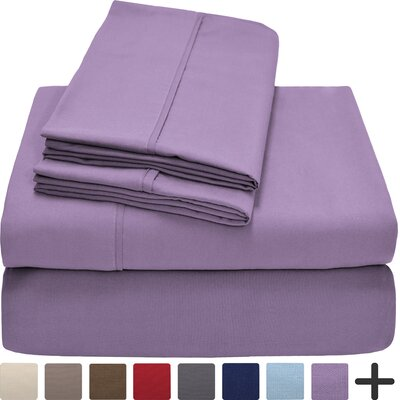 Hadley Premium Ultra Soft 5 Piece Sheet Set Color: Lavender, Size: Twin