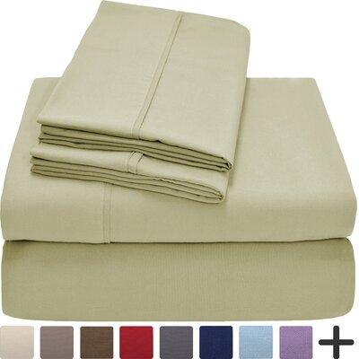 Hadley Premium Ultra Soft 5 Piece Sheet Set Color: Sage, Size: Twin XL