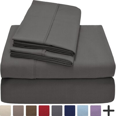 Hadley Premium Ultra Soft 5 Piece Sheet Set Color: Gray, Size: Twin XL