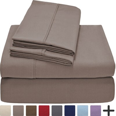 Andes Premium Microfiber Sheet Set Color: Taupe