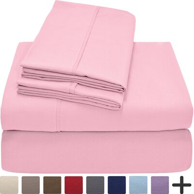 Hadley Premium Ultra Soft 5 Piece Sheet Set Color: Light Pink, Size: Twin XL