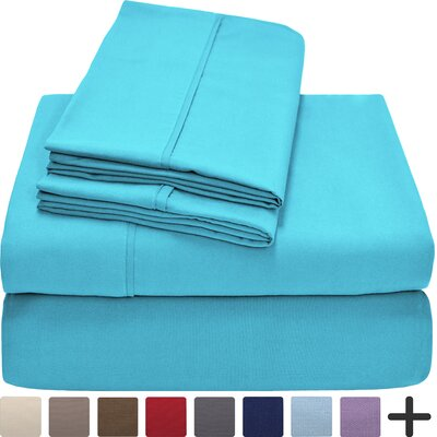Andes Premium Microfiber Sheet Set Color: Aqua