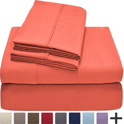 Hadley Premium Ultra Soft 5 Piece Sheet Set Color: Coral, Size: Twin XL