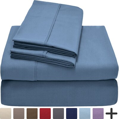 Andes Premium Microfiber Sheet Set Color: Coronet Blue