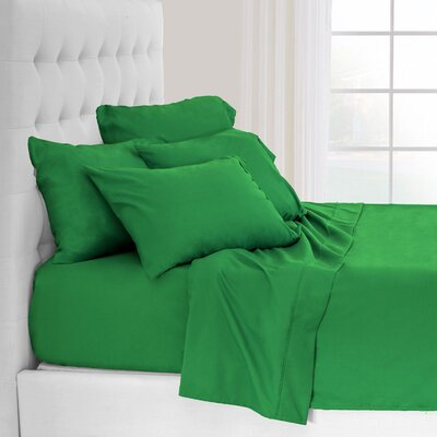 Hadley Premium Ultra Soft 5 Piece Sheet Set Color: Lime, Size: Twin XL