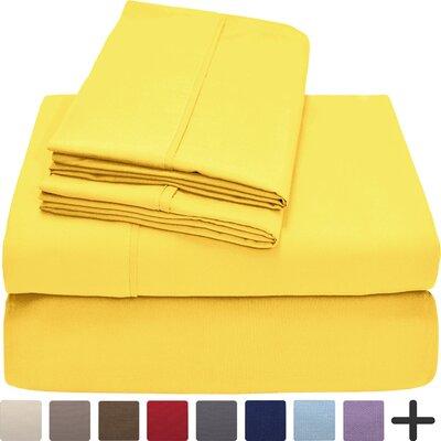 Hadley Premium Ultra Soft 5 Piece Sheet Set Color: Lemon Drop, Size: Twin XL
