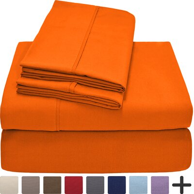 Hadley Premium Ultra Soft 5 Piece Sheet Set Color: Orange, Size: Twin XL