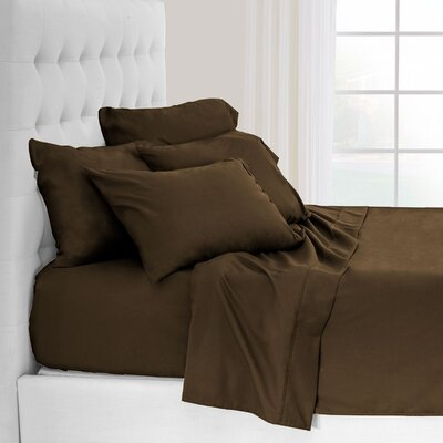 Hadley Premium Ultra Soft 5 Piece Sheet Set Color: Cocoa, Size: Twin XL