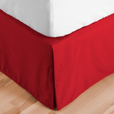 Abe Premium 1800 Thread Count Bed Skirt Size: Twin XL, Color: Red