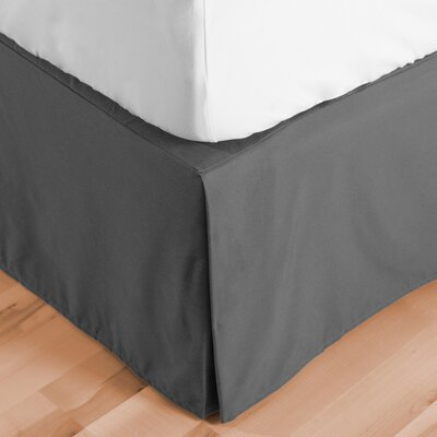 Abe Premium 1800 Thread Count Bed Skirt Size: Full XL, Color: Gray