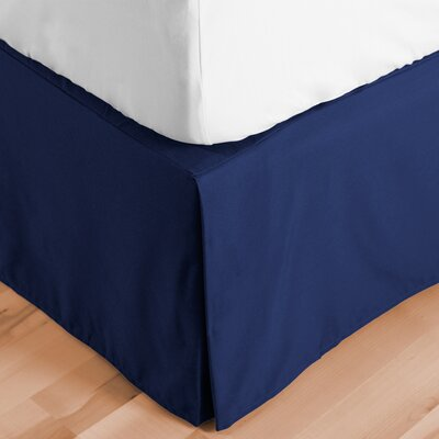 Abe Premium 1800 Thread Count Bed Skirt Size: Queen, Color: Dark Blue