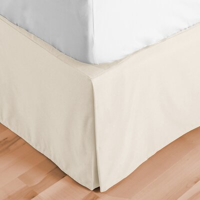 Abe Premium 1800 Thread Count Bed Skirt Size: Queen, Color: Ivory