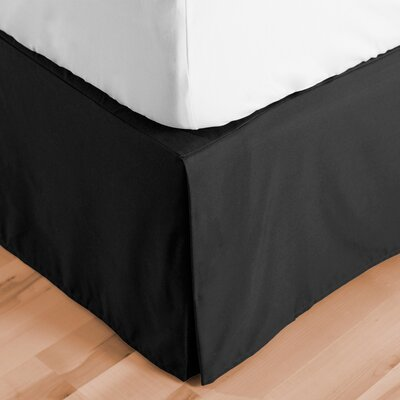 Abe Premium 1800 Thread Count Bed Skirt Size: Full, Color: Black
