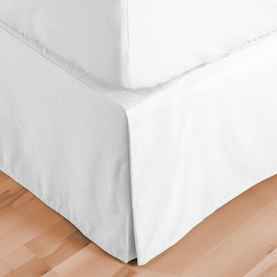 Abe Premium 1800 Thread Count Bed Skirt Size: Twin, Color: White