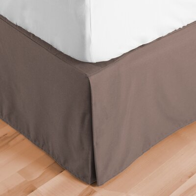Abe Premium 1800 Thread Count Bed Skirt Size: Twin, Color: Taupe