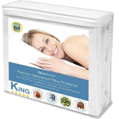 Premium Hypoallergenic Pillow Protector Size: King