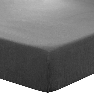 Creger Fleece Fitted Bottom Sheet Set Size: King, Color: Gray