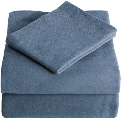 Super Soft 100% Cotton Flannel Sheet Set Size: Twin XL, Color: Coronet Blue