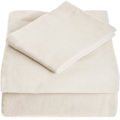 Super Soft 100% Cotton Flannel Sheet Set Size: Twin XL, Color: Ivory